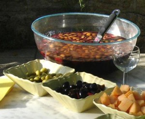 Olives and seasonal fruits