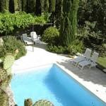 La piscine des gîtes et chambres d'hôtes du Mas Pellier Barjac Ardèche Cévennes Provence
